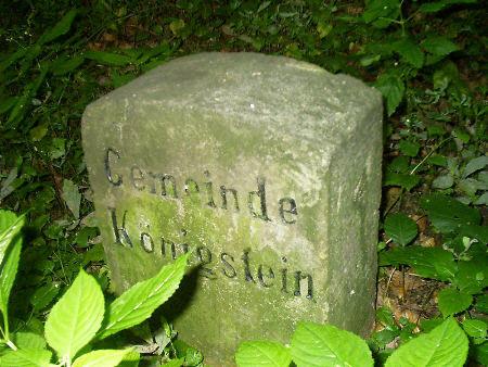 Grenzstein der Gemeinde Königstein - Wanderung von Prossen nach Königstein - Halbestadt königstein halbestadt prossen wanderung