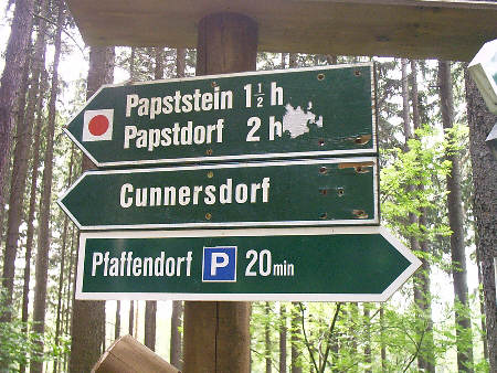 Wegweiser am Pfaffenstein Wegweiser am Pfaffenstein pfaffenstein papstdorf papststein diebeskeller quirl königstein