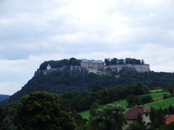 Die Festung Königstein von Thürmsdorf aus fotografiert Die Festung Königstein Festung Königstein Thürmsdorf