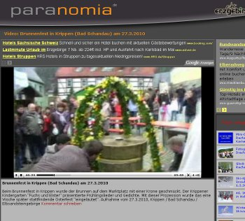 Brunnenfest in Krippen (Bad Schandau - Sächsische Schweiz) Video vom Brunnenfest in Krippen auf paranomia.de online brunnenfest krippen kindergarten bad schandau sächsische schweiz www.paranomia.de