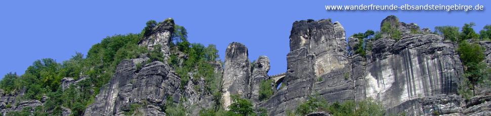 Wandern rund um die Bastei - Saechsische Schweiz