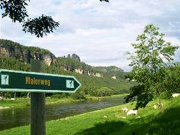 Der ca. 112 km lange Malerweg verbindet die sch�nsten Aussichtspunke im Elbsandsteingebirge