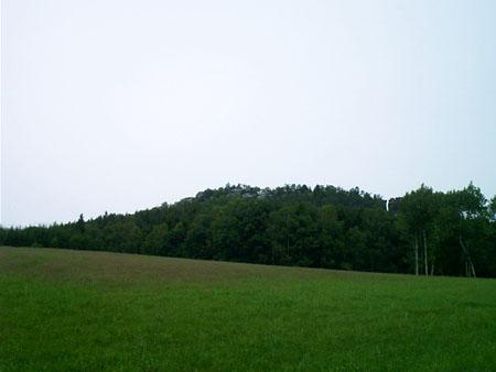 Gohrisch von Papstdorf aus gesehen gohrisch papstdorf berg gipfel Der Gohrisch von Papstdorf aus gesehen