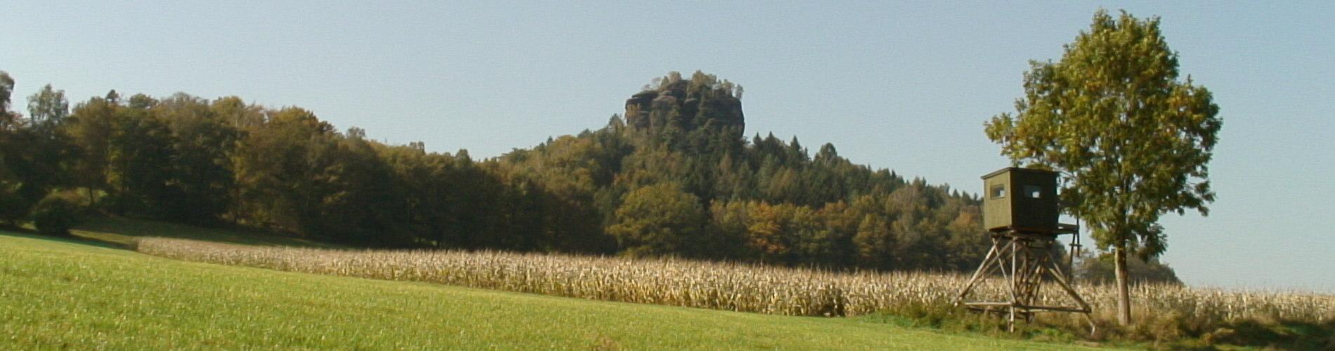Der Zirkelstein im Spätherbst - Reinhardtsdorf-Schöna, Elbsandsteingebirge
